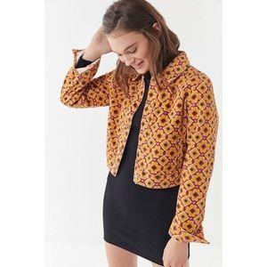 Urban Outfitters Sofia Printed Corduroy Jacket